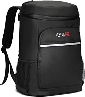 Veevanpro Waterproof Leakproof Large Insulated Cooler Backpack 40 Cans 33L