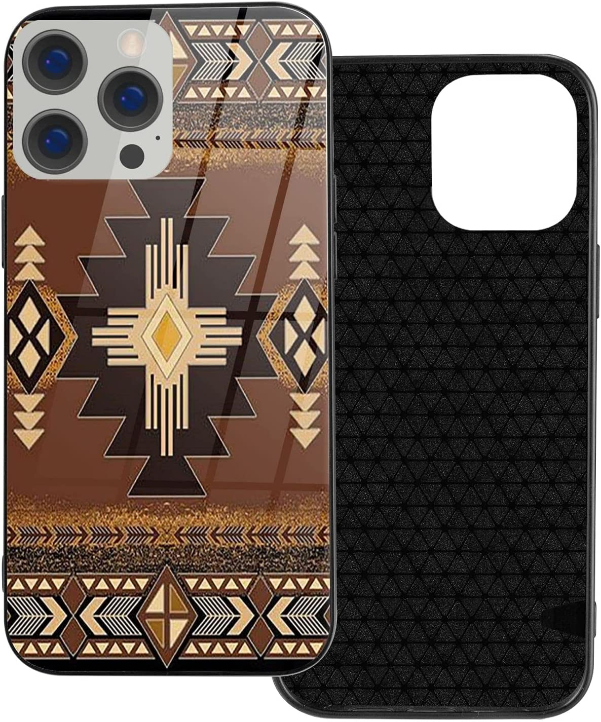 iPhone 12 / iPhone 12 Pro/iPhone 12 Mini/iPhone 12 Pro Max Mobile Phone Case Southwestern American Native Indian Tribal Pattern TPU Glass Mobile Phone Cover Protective Shell