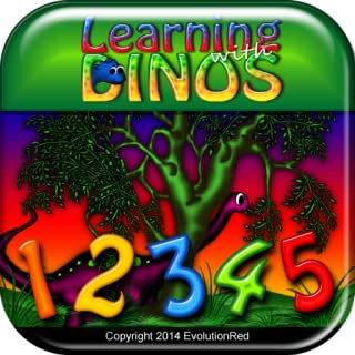 Counting: Learning with Dinos Series(Kids Dinosaur Math App- Count 1-100. Childrens Early Education)