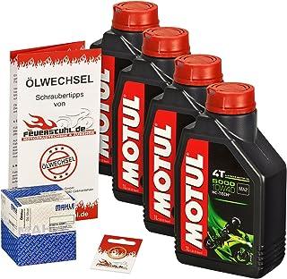 Motul 10W 40 Öl + Mahle Ölfilter für BMW K 1200 LT/RS, 99 09, K12 K41 K589   Ölwechselset inkl. Motoröl, Filter, Dichtring