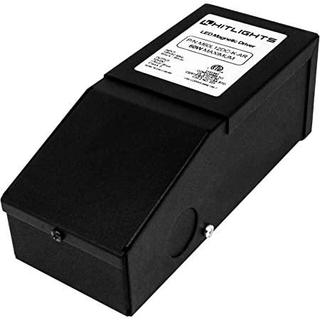 Magnitude Dimmable Driver, 60 Watt Magnetic LED Driver - 110V AC-12V DC Transformer. Made in the USA. Compatible with Leviton for LED Strip Lights, Constant Voltage LED Products