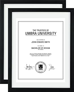4dac6e5003a0 Umbra Document (2-Pack) - 11x14 Frame – Floating Frame for Displaying 8