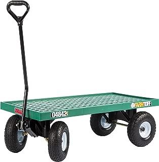 Farm Tuff Plastic Deck Wagon, 20-Inch by 40-Inch, Green