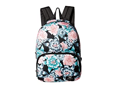 Roxy Always Core Mini Backpack (Anthracite Crystal Flower) Backpack Bags
