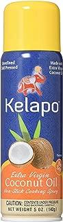 Kelapo Extra Virgin Coconut Oil, Cooking Spray, 5-Ounce Can