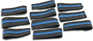 Bulk Packed Police/Fire/EMS Mourning Bands For Service Badges (Assorted Styles) (10 Thin Blue Line 3/4
