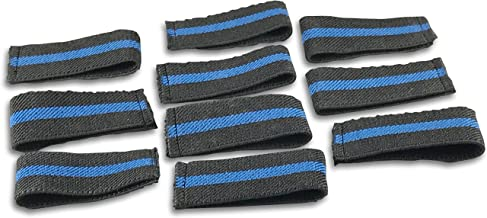 Bulk Packed Police/Fire/EMS Mourning Bands For Service Badges (Assorted Styles) (20 Thin Blue Line 3/4