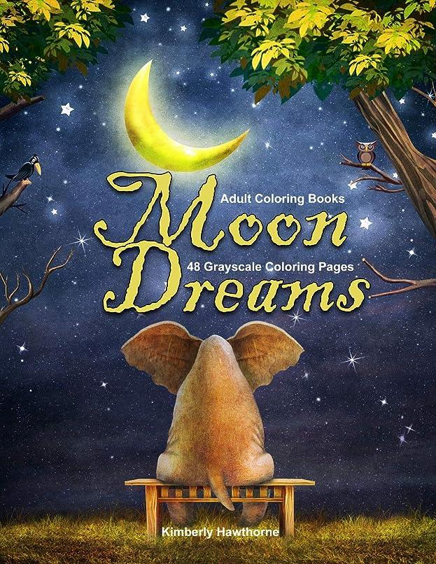 すぐに金曜日Adult Coloring Books Moon Dreams: Life Escapes Adult Coloring Books 48 grayscale coloring pages of realistic and fantasy style images with moon phases, moon light, magical aspects and more