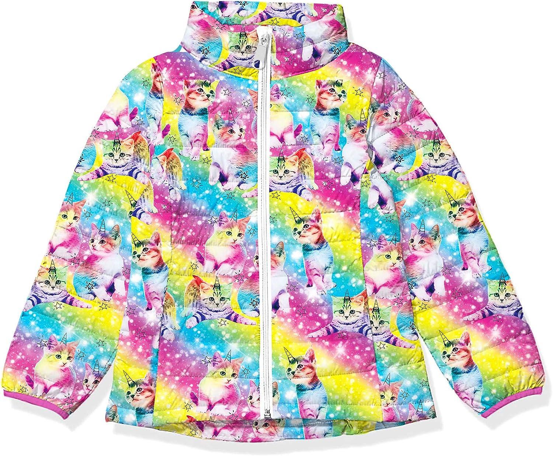 Lovekider Girls Winter Coat Packable Down-Alternative Puffer Jacket Lightweight Water-Resistant Outerwear for Kids 4-12T