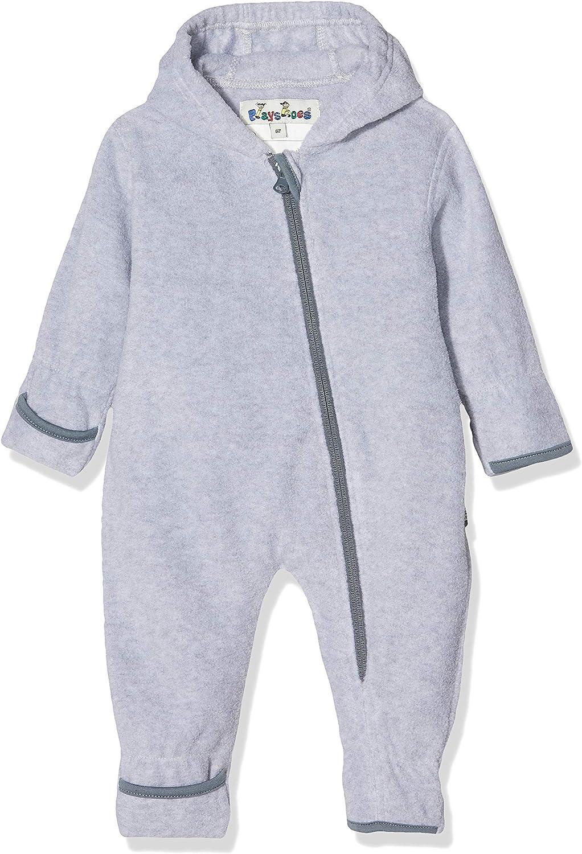 Playshoes Unisex Baby Fleece-Overall Meliert Strampler