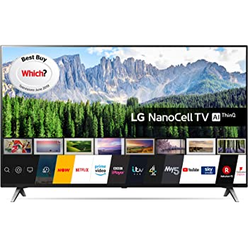 LG 65SM8500PLA 65 Inch UHD 4K HDR Smart NanoCell LED TV with Freeview Play - Black (2019 Model) with Alexa built-in