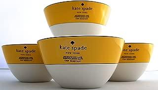 4-Piece Kate Spade Lenox Rutherford Circle Yellow Pattern Bowl Set