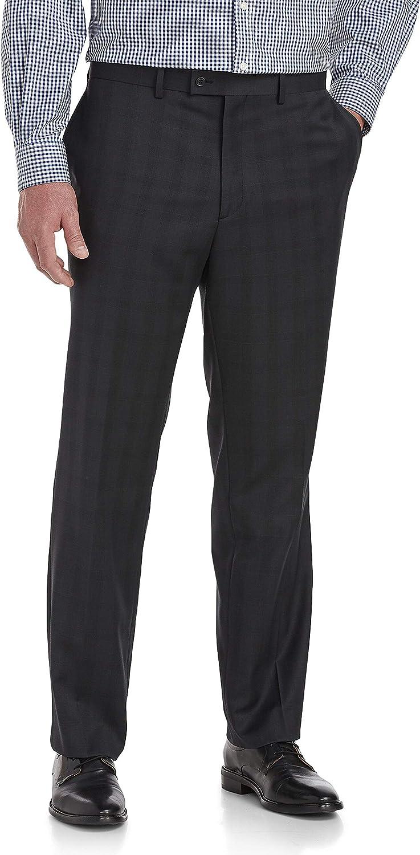 Jack Victor Reflex Large Plaid Stretch Suit Pants, Black