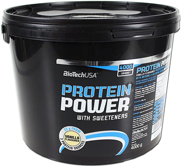 Proteine in polvere biotech usa iaf00070564 protein power, 4000 g, vaniglia 5999076201846