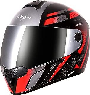 Vega Evo BT Diamond Dull Black Red Helmet- L