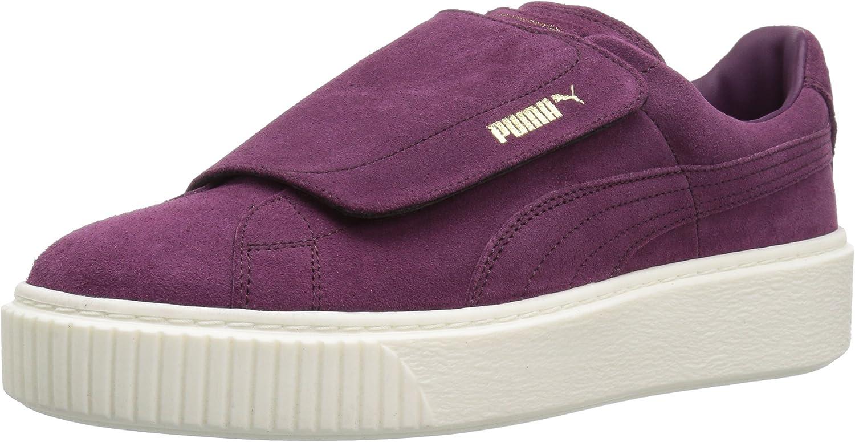 PUMA Women's Suede Platform Strap WN's Fashion Sneakers