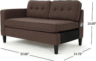 Amazon.com: domesis Granada sofá, Madera Noble Tela ...
