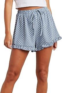 Polka Dot Printed Flippy Shorts with Ruffled Hem For Women Closet by Styli