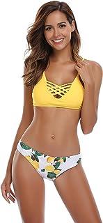 SHEKINI Mujer Conjunto de Bikini de Dos Piezas Almohadillas