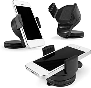 5s // 5c Dashboard and Windshield Car Mount for iPhone 6 // 6+ Galaxy S6//5//S4//S3 iPad // iPad 2 // iPad Air Nexus 5//4 Bovee Universal Smartphone and Tablet Car Mount for Any Device Any Size 4s Note 4//3//2 iPad mini LG G3//2 BCM-101