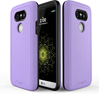 J&D Case Compatible for LG G5 Case, [Slim Guard] [Heavy Duty] [Dual Layer] Hybrid Shock Proof Fully Protective Case for LG G5 - Purple