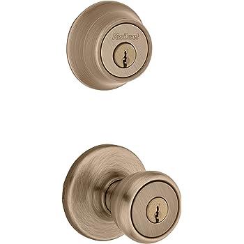 Entry Exterior Door Knob Hartford Satin Nickel Deadbolt Bolt Lock Set Combo Pack