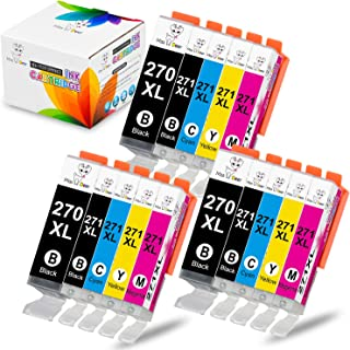 MS Deer PGI-270XL CLI-271XL Compatible Ink Cartridge Replacement for Canon PGI 270 XL CLI 271 XL for PIXMA MG6820 MG6821 MG7720 MG5720 MG5722 TS6020 (3 PGBK,3 Black,3 Cyan,3 Magenta,3 Yellow) 15 Pack