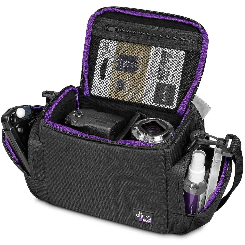 Amazon Com Medium Camera Bag Case By Altura Photo For Nikon Canon Sony Fuji Instax Dslr Mirrorless Cameras And Lenses Electronics