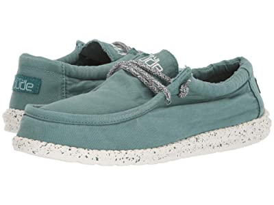 Hey Dude Wally Washed (Teal) Men