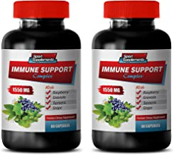 mmune Defense - Immune Support Complex 1550MG - Natural Formula - Premium Blend - Stop Free Radical Damage - Turmeric in Bulk - 2 Bottles (120 Capsules)