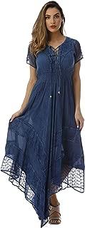 Riviera Sun Embroidered Boho Summer Maxi Dress
