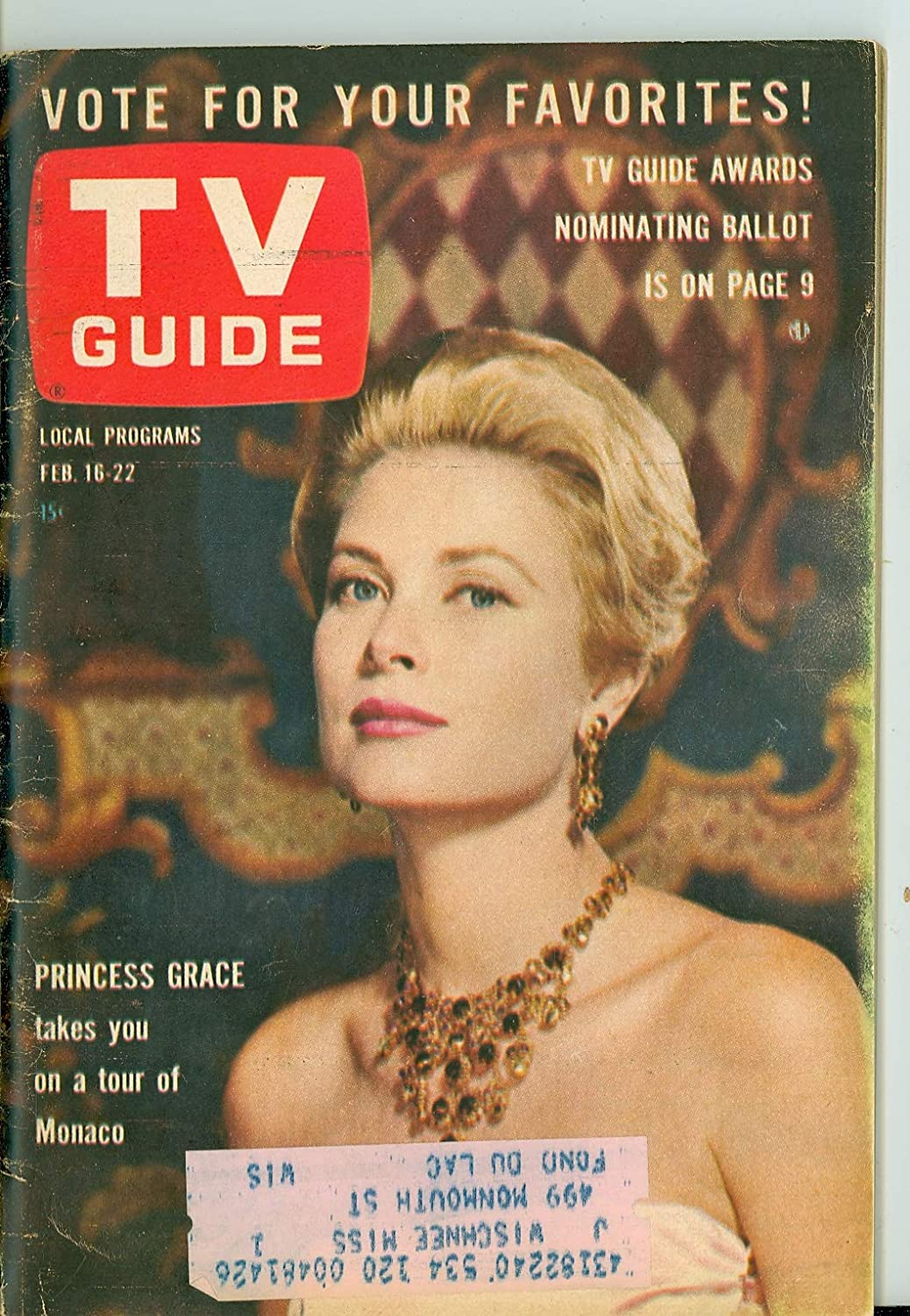 1963 TV Guide Feb 16 Princess Max 80% OFF Kelly - Edition Wisconsin Fashionable Ve Grace