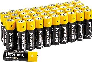 Intenso AA 7501520 Ultra AA Mignon LR6 Alkaliska Batterier, Paket med 40
