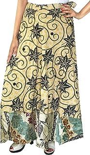 Maple Clothing Two Layers Women's Indian Sari Magic Wrap Around Long Skirt