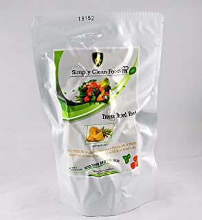 Simply Clean Foods - Non GMO Freeze Dried Pineapple Chunks - 12 Servings