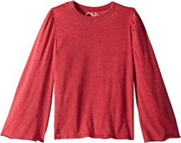 Extra Soft Long Sleeve Bell Sleeve Crew Neck Tee (Little Kids/Big Kids)