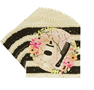 Havercamp Salon Style Luncheon Napkins | 16 Count | Great for Makeover Party, Kid's Birthday, Bridal Shower, Gender Reveal, Family Occasion, Mother's Day