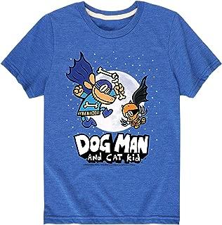 Dog Man and Cat Kid Wmoon - Youth Short Sleeve Tee