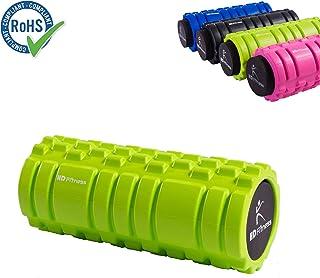 HD Fitness 2-en-1 Masaje Terapia Rollo de Espuma - Mejor Herramienta de Masaje - Deportes y Estado físico - Eficacia del Producto: liberación miofascial, Dolor Muscular, rigidez Reducida,RoHS Probado