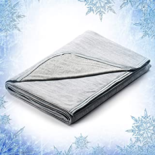 Elegear Cooling Blanket, Revolutionary Queen Size Summer Blanket, Absorbs Body Heat to Keep Cool on Hot Nights, Q-Max 0.4 ...