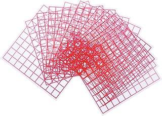 Scicalife 10Pcs Matematik Utbildning Leksaker Plast Square Grid Plattor Område Mätark
