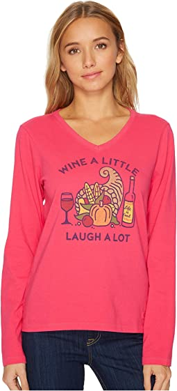 Life is Good - Cornicopia Wine Long Sleeve Crusher Vee