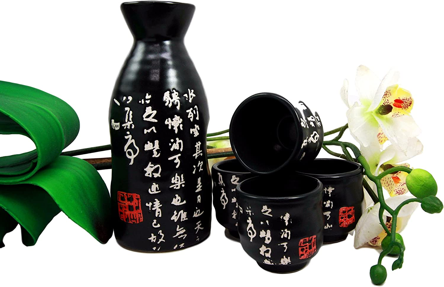 Atlantic Collectibles Japanese 12oz Recommended Chinese Ceramic Calligraphy In stock