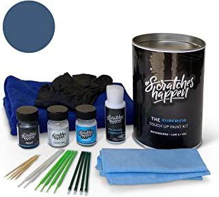 ScratchesHappen Exact-Match Touch Up Paint Kit Compatible with Toyota Cavalry Grayish Blue (8W2) - Complete