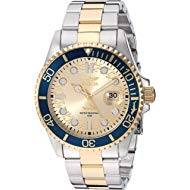 Men's Pro Diver Quartz Watch with Stainless Steel Strap, Two Tone, 22 (Model: 30022)