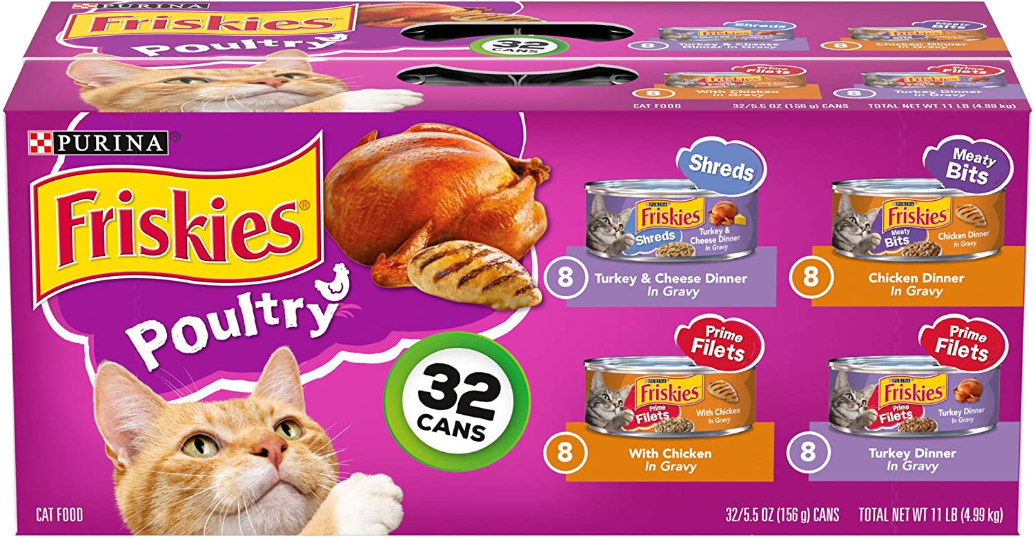 Purina Now on sale Award-winning store Friskies Gravy Wet Cat Pack Poultry Variety Shreds Food