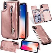 Jennyfly Galaxy S8 Case, Fashion Button Magnetic Closure Wallet Design Premium Durable Leather Zipper Protective Cover with Card Slots & Money Pocket for 2017 Galaxy S8 5.8