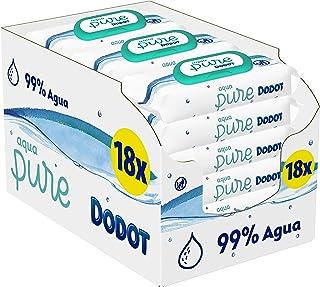 Dodot Aqua Pure - Toallitas Bebé con 99% Agua, 18 Paquetes