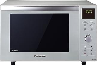 Panasonic NN-DF385 - Microondas Horno con Grill Combinado (1000 W, 23 L, 6 niveles, Inverter, Grill 1000 W, 100-220ºC,  16 modos,  recubrimiento antiadherente sin plato) Plateado