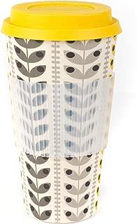 Cambridge Bamboo Reusable Coffee Cup Travel Mug (Retro Daisy)
